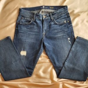 7 For All Mankind Mens Distressed Jeans 31